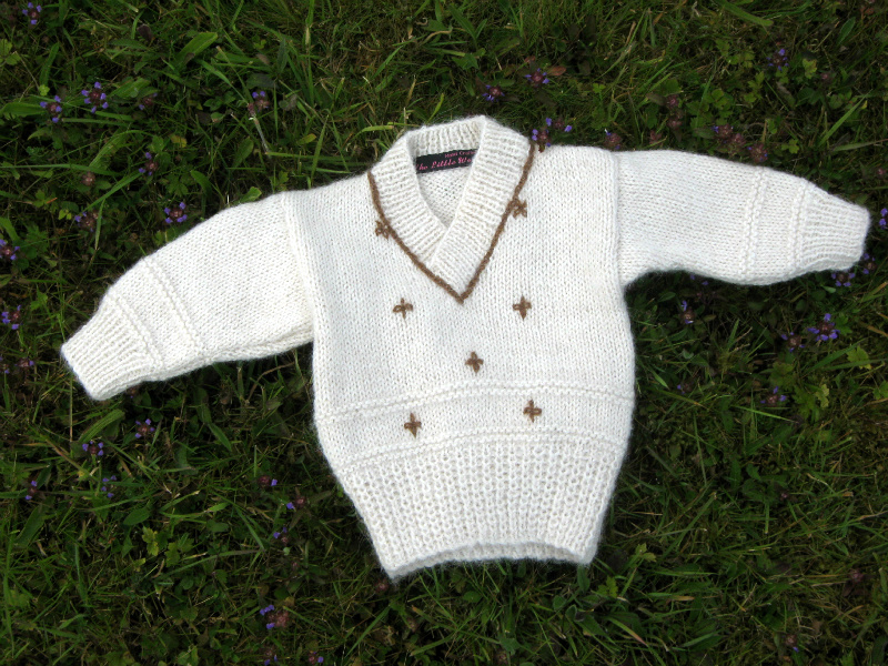 880197fc4f3c Snowdrop Baby Sweater Knitting Kit