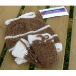Baby Hat and Mittens in 100% Alpaca