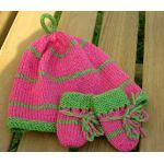 Baby Hat and Mittens in Superwash Merino