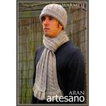 Warmth - Men's hat and scarf  knitting pattern