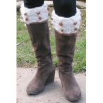 Cable and Bobble Boot Toppers Knitting Kit
