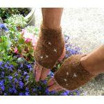 Chocolate Dream Men's Fingerless  Mittens -  Knitting Kit