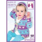 Queen of Hearts 3 part Knitting Pattern for girls