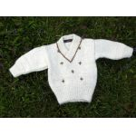 Snowdrop Baby Sweater Knitting Kit