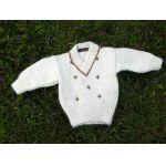 Snowdrop Baby Sweater Knitting Kit