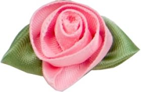 Pink Satin Rosebuds x 10