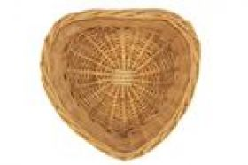 heart shaped wicker basket