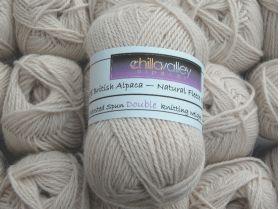 Buttermilk - Chilla Valley 100% Alpaca  Double Knitting Yarn
