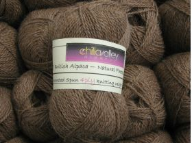 Milk Chocolate -  Chilla Valley 100% Alpaca 4ply