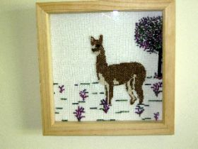 Bay the Alpaca Counted Cross Stitch Kit