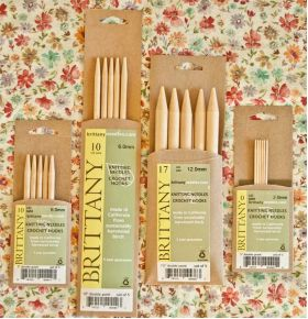 "Brittany Birch Double  Pointed Needles  5"" length"